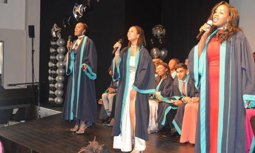 A performance by students representing the graduating class